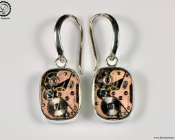 Decimononic - Supra earrings | Sterling silver Steampunk earrings