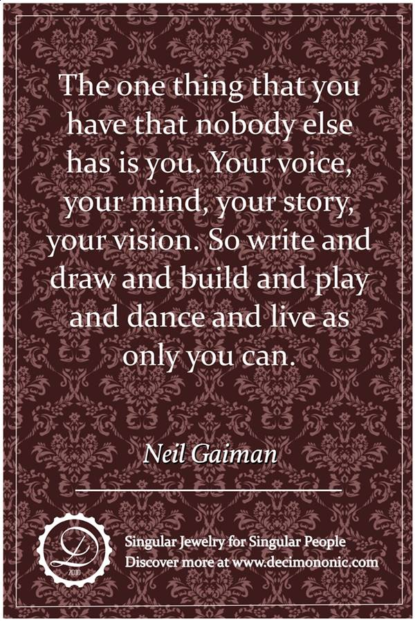 Decimononic - Words of Singularity - Neil Gaiman