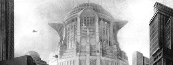 Metropolis skyline - Babel Tower