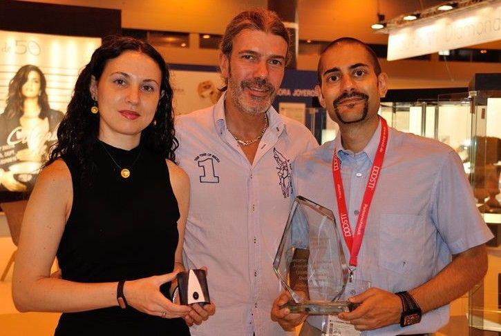 Irene Lopez, Raul Romero from M& Tools and José Francisco Alfaya.