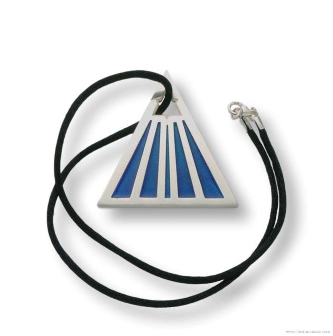 Non Omnis Moriar - Egyptian Blue Edition - Sterling silver planchette pendant by Decimononic