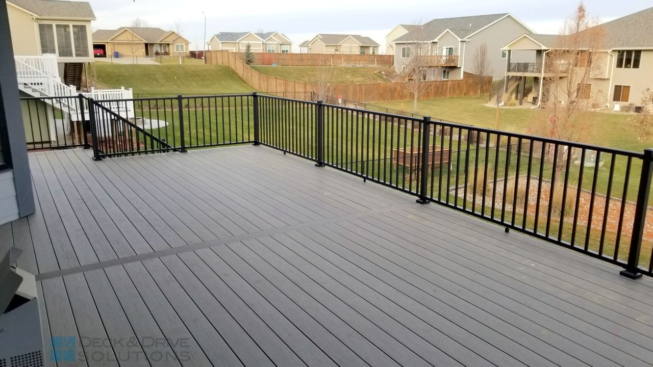 Timbertech Silver Maple Walkout Deck And Drive Solutions