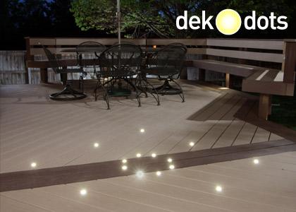 dekor dek dots recessed led deck lights