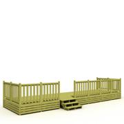 Terrasse Deckit pour mobil home non couverte - dimesnions : 250x840