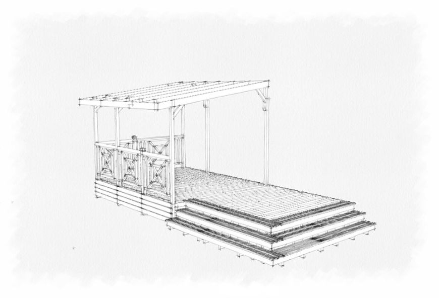 plan terrasse mobilhome