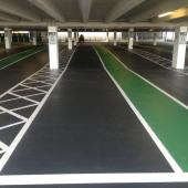 HFS ID with green car park paint walkway
