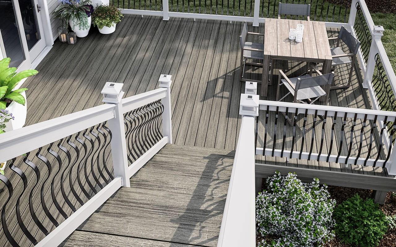 Deck Rail Options Accessories Deckorators   Vinyl Stair Railing Lowes   Porch   Baluster   Concrete   Wrought Iron   Wood