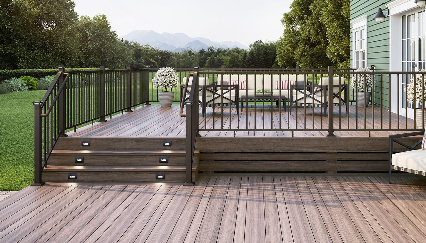 Ada Compliant Secondary Handrail Deckorators | Ada Compliant Exterior Handrails | Stainless Steel | Deck Railing | Extension | Vinyl | Hand Rail