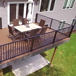 Metal Deck Railing Top Sellers Decksdirect   Metal Handrails For Decks   Small Deck   Outdoor   Residential   Metal Rope   Decorative