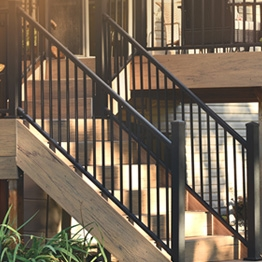 Metal Stair Railing Outdoor Porch Railing Decksdirect | Iron Handrails For Outside Steps | Aluminum Railing | Railing Systems | Deck Railing | Front Porch