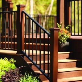 Metal Stair Railing Outdoor Porch Railing Decksdirect | Outside Metal Stair Railing | Steel | Concrete | Steel Handrail | Porch | Outdoor Stair
