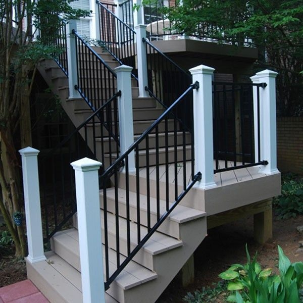 Fortress Fe26 Prefabricated Adjustable Stair Panel Decksdirect   Pre Made Stair Railings   Porch   Pressure Treated   Stair Treads   Aluminum Railing   Stair Stringers