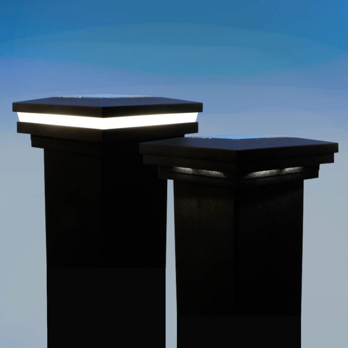 magena star ornamental solar post caps for westbury aluminum railing