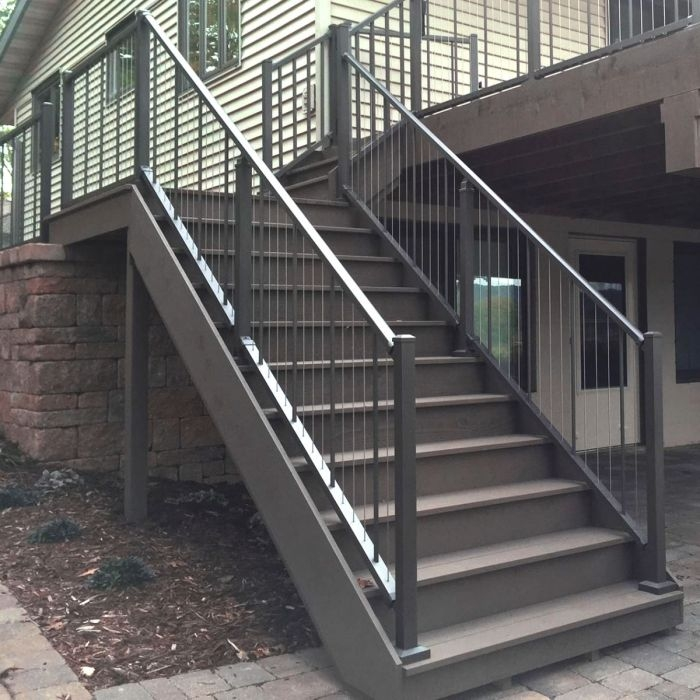 Verticable Stair Rail Section Kits By Westbury Aluminum Railing   Aluminum Handrails For Concrete Steps   Stair   Wood   Front Porch   Back Patio   Mobile Home