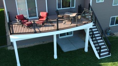 Metal Deck Railing Decksdirect   Metal Handrails For Decks   Patio   Decking   Fence   Pool Deck   Vertical Metal