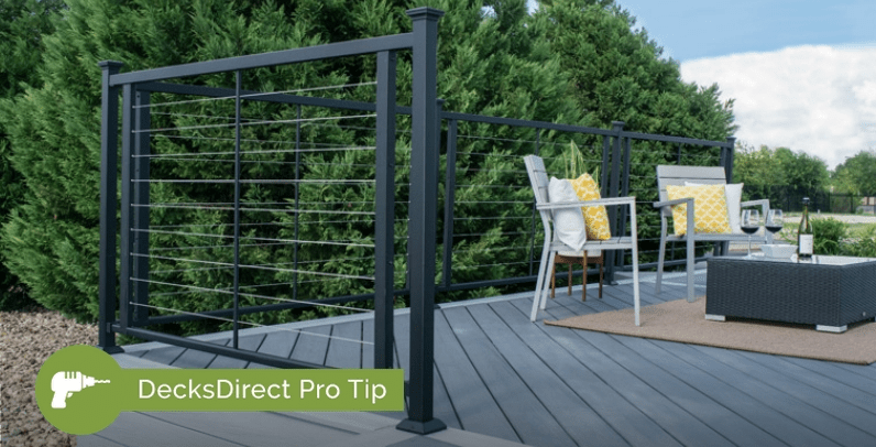 How To Tension Cable Railing Decksdirect | Tension Wire Stair Railing | Stainless Steel | Simple | Aluminum Commercial | Residential | Wire Balustrade