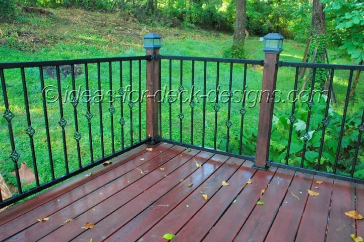 Metal Deck Railing Wood Aluminum Galvanized Iron And Stainless   Metal Handrails For Decks   Small Deck   Outdoor   Residential   Metal Rope   Decorative
