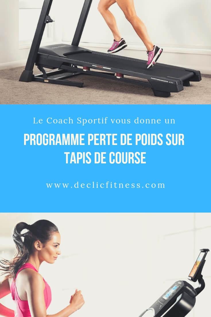 programme tapis de course perte de poids