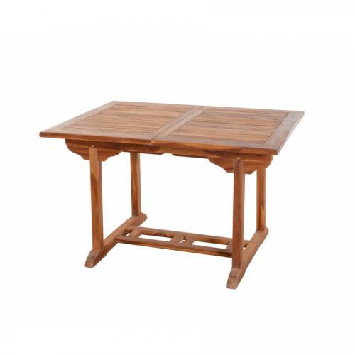 table de jardin extensible rectangulaire en teck lima