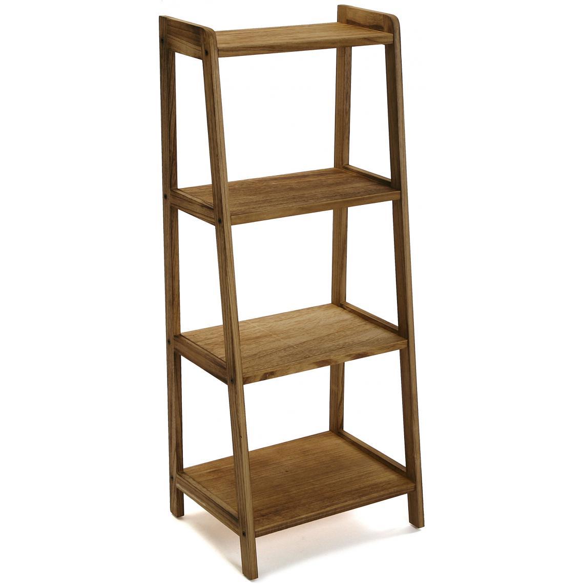 meuble de rangement 4 etageres bois marron bruno