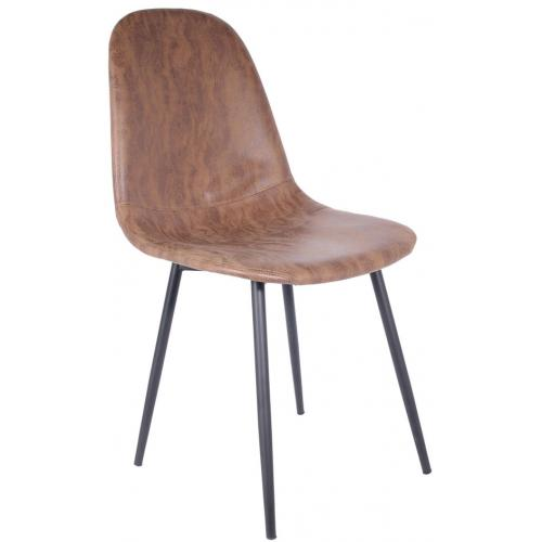 chaise design marron brooke