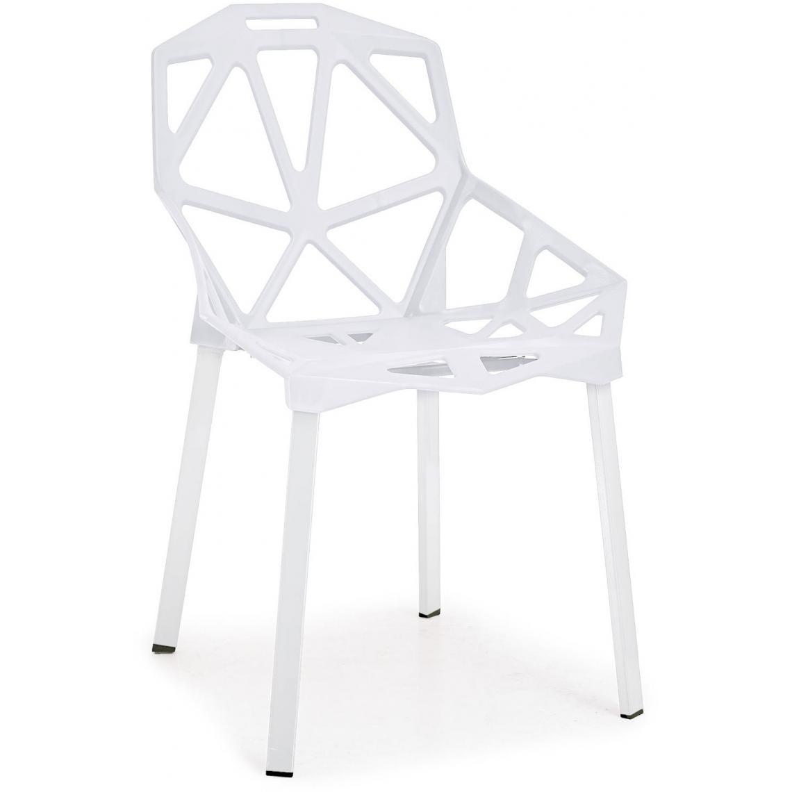 lot de 4 chaises ajourees blanches spidi