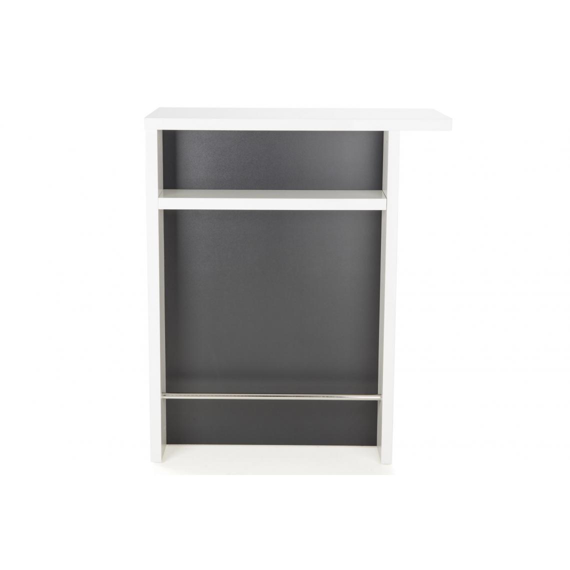 petit bar laque blanc et gris glass