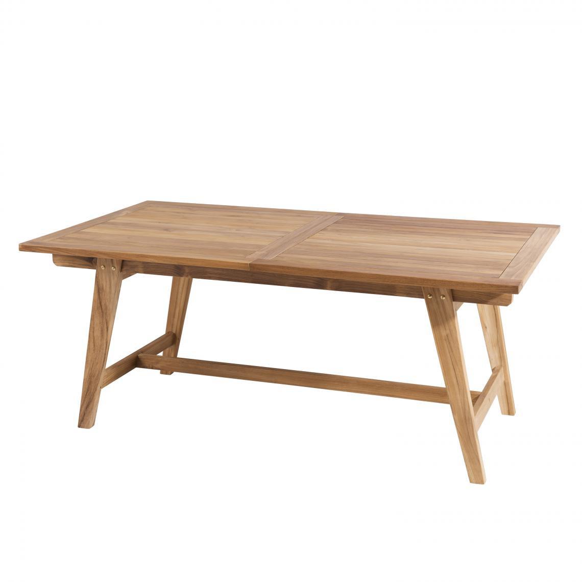 table de jardin 8 10 personnes rectangulaire scandi extensible 180 240x100 cm en bois teck