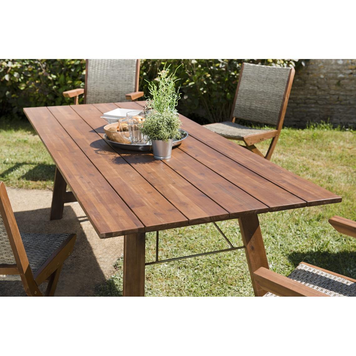 bois acacia table de jardin