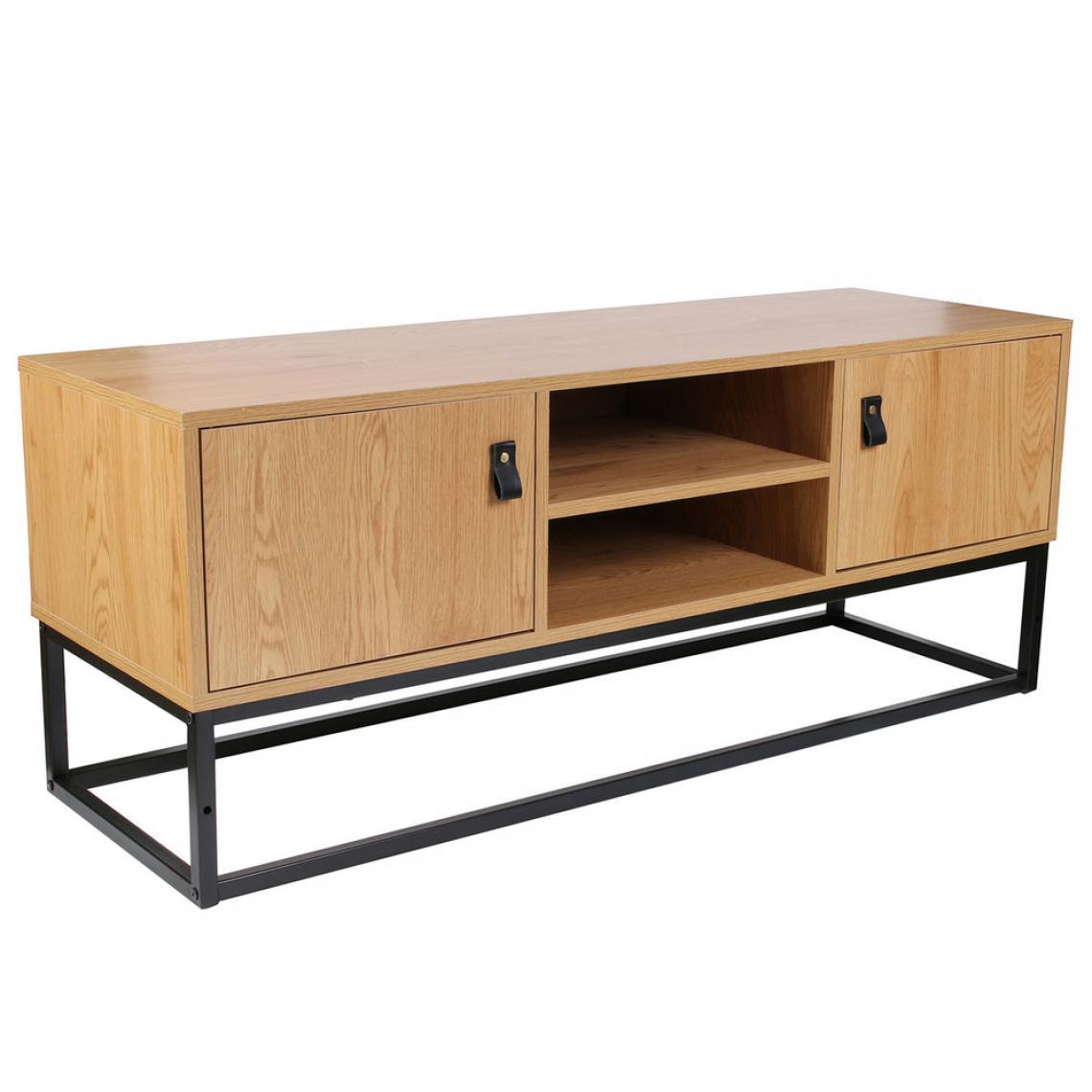 meuble tv industriel bois et metal selma