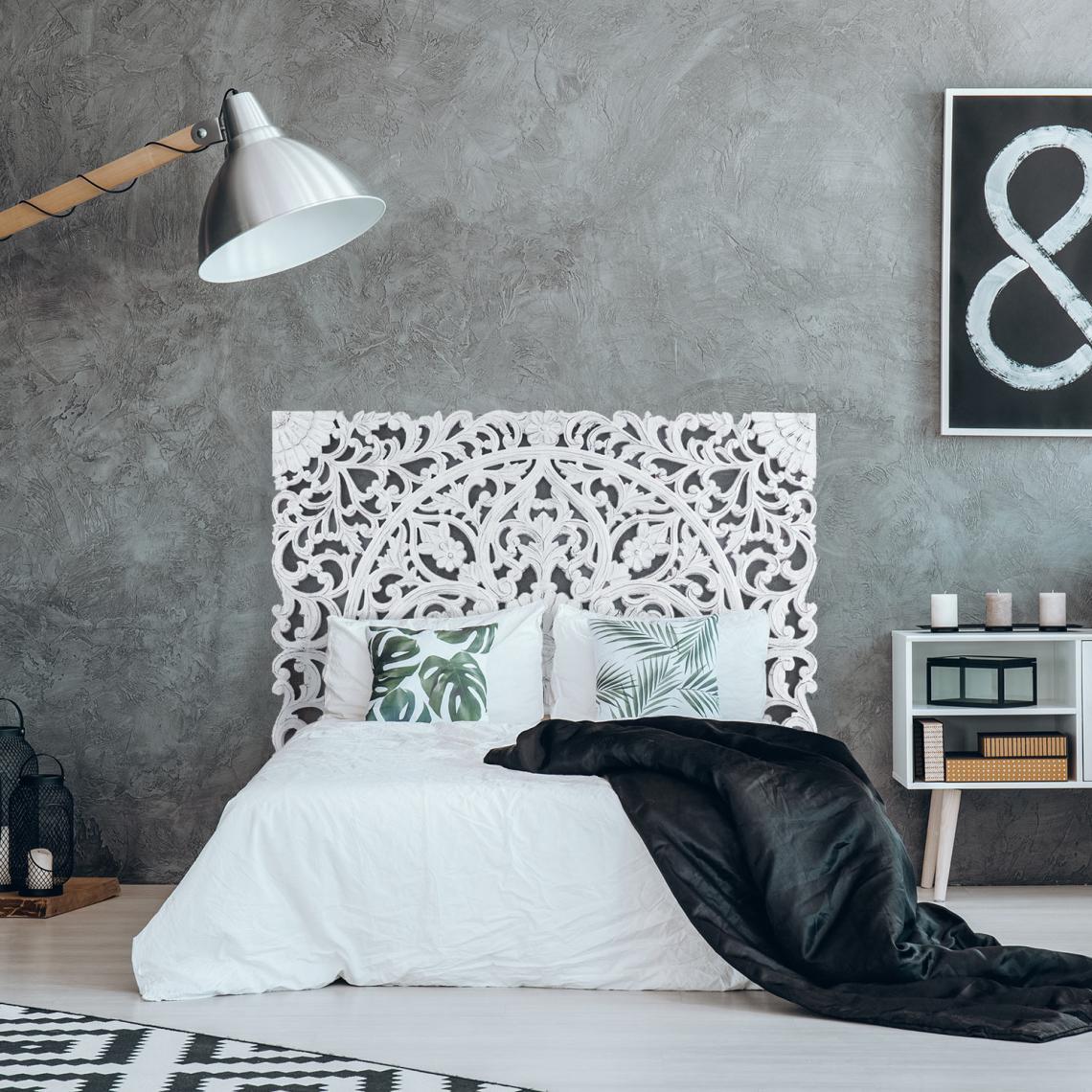 tete de lit 160cm bois blanc nitou
