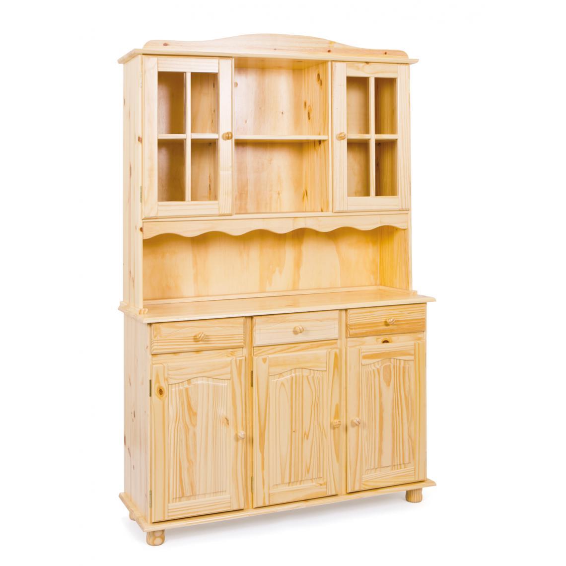 vaisselier 3 portes en bois massif logi