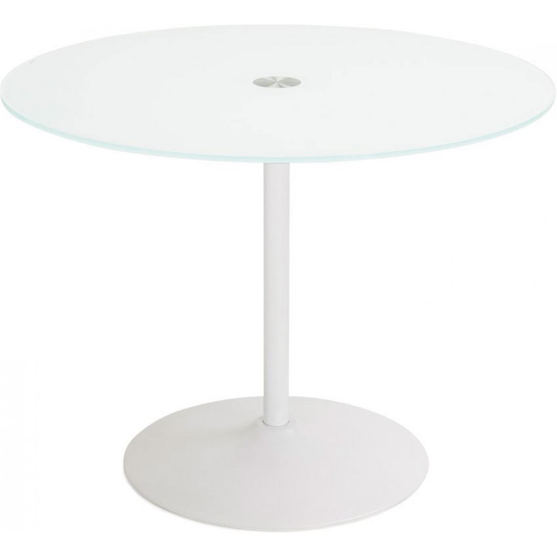 table a manger blanche ronde design plateau en verre bloom