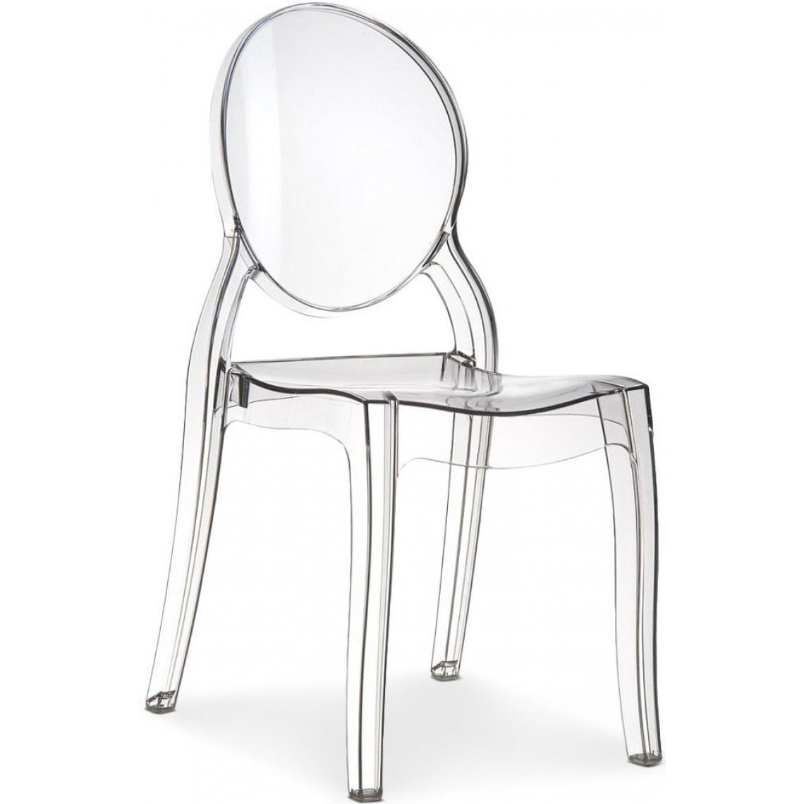 chaise baroque elizabeth transparente