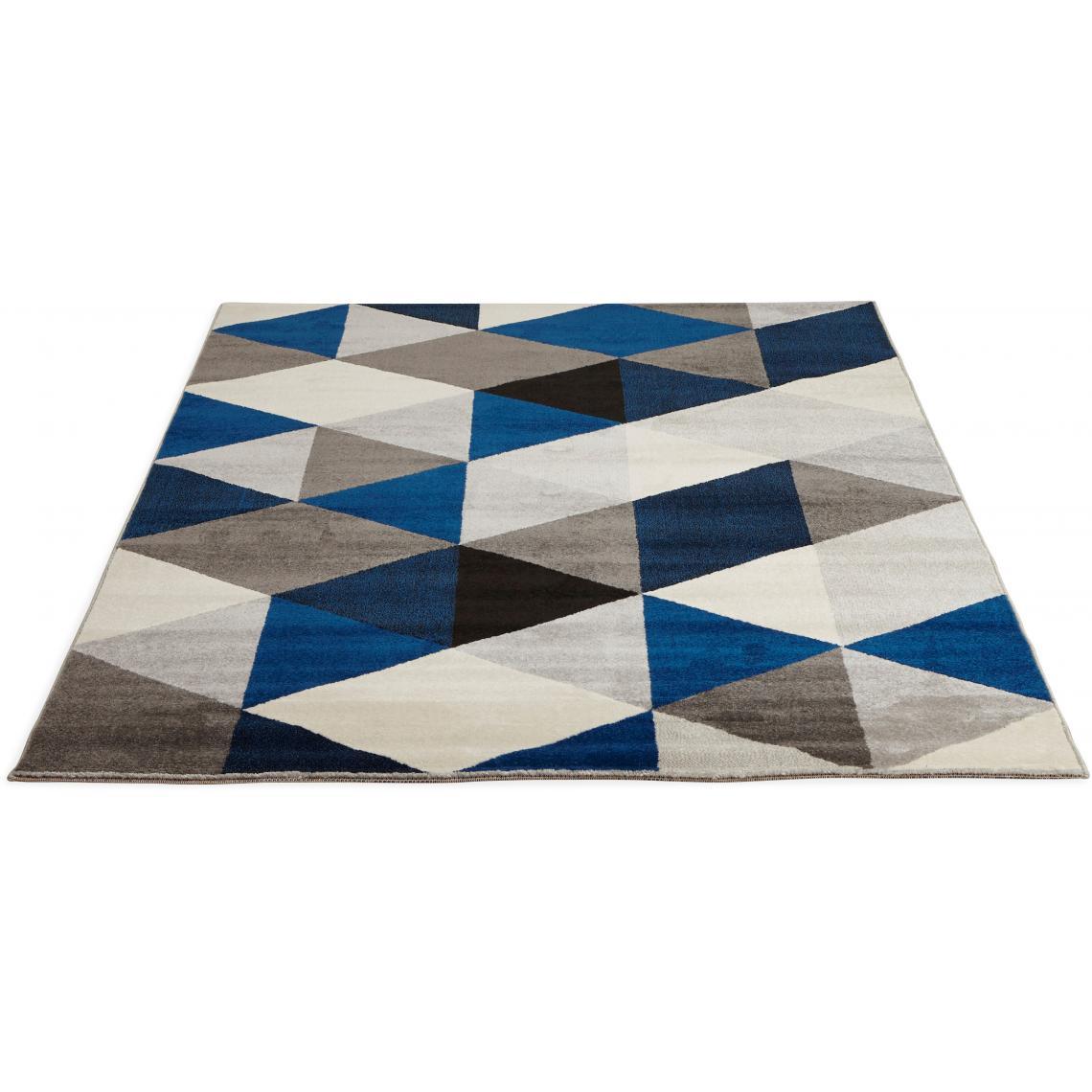 tapis bleu 160x230 cm abigail tapis