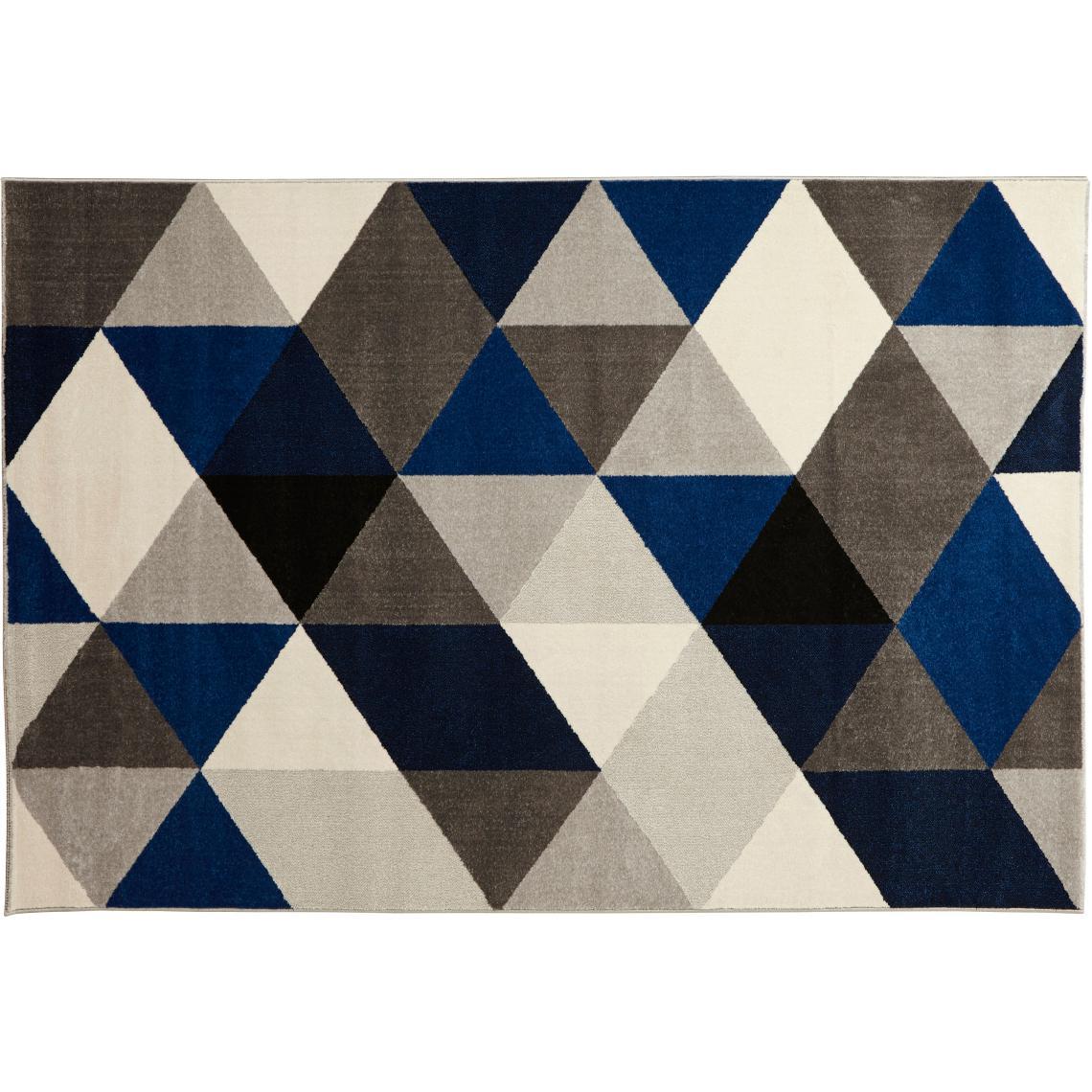 tapis bleu 160x230 cm abigail