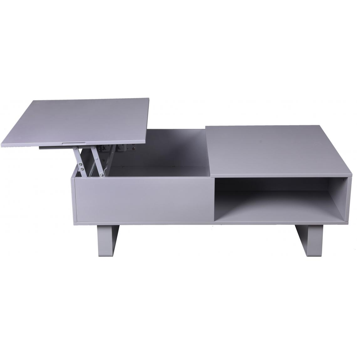 table basse avec plateau relevable gris nertino