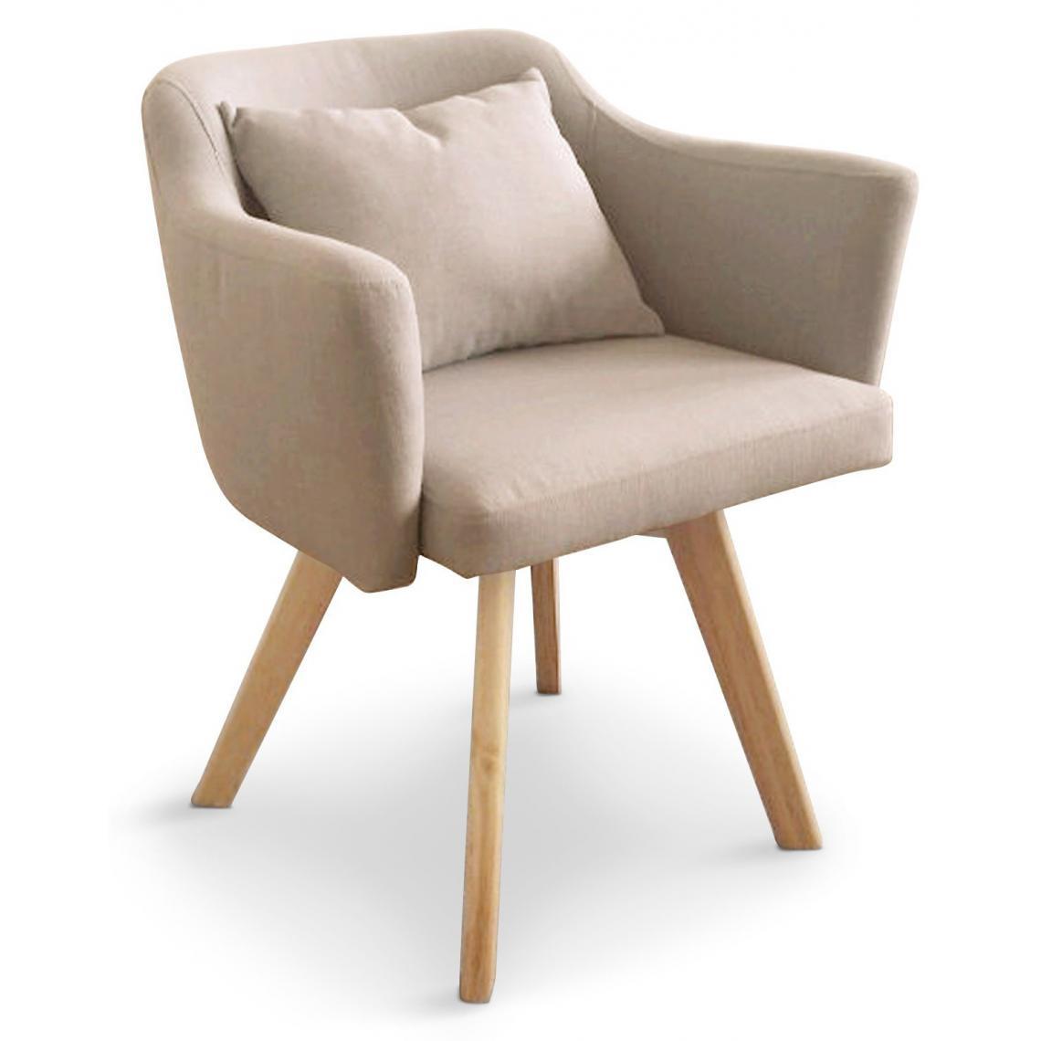 fauteuil scandinave beige layal