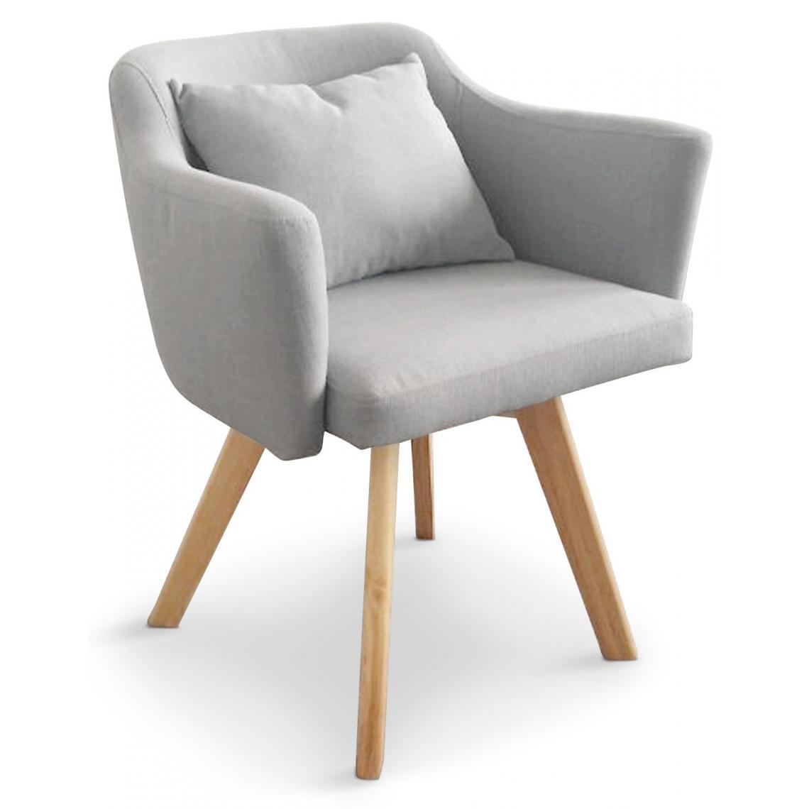 fauteuil scandinave gris layal