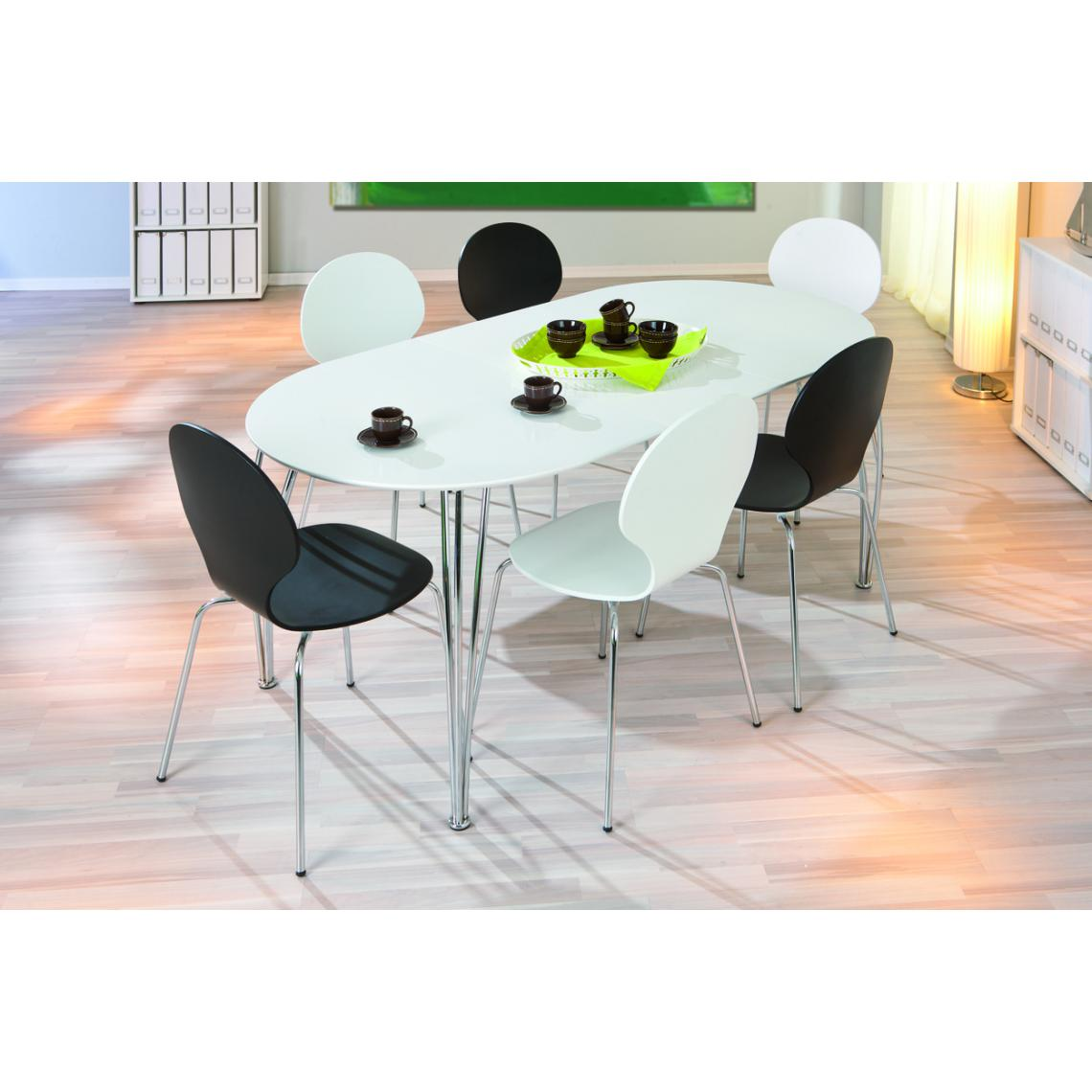 table a manger extensible blanche