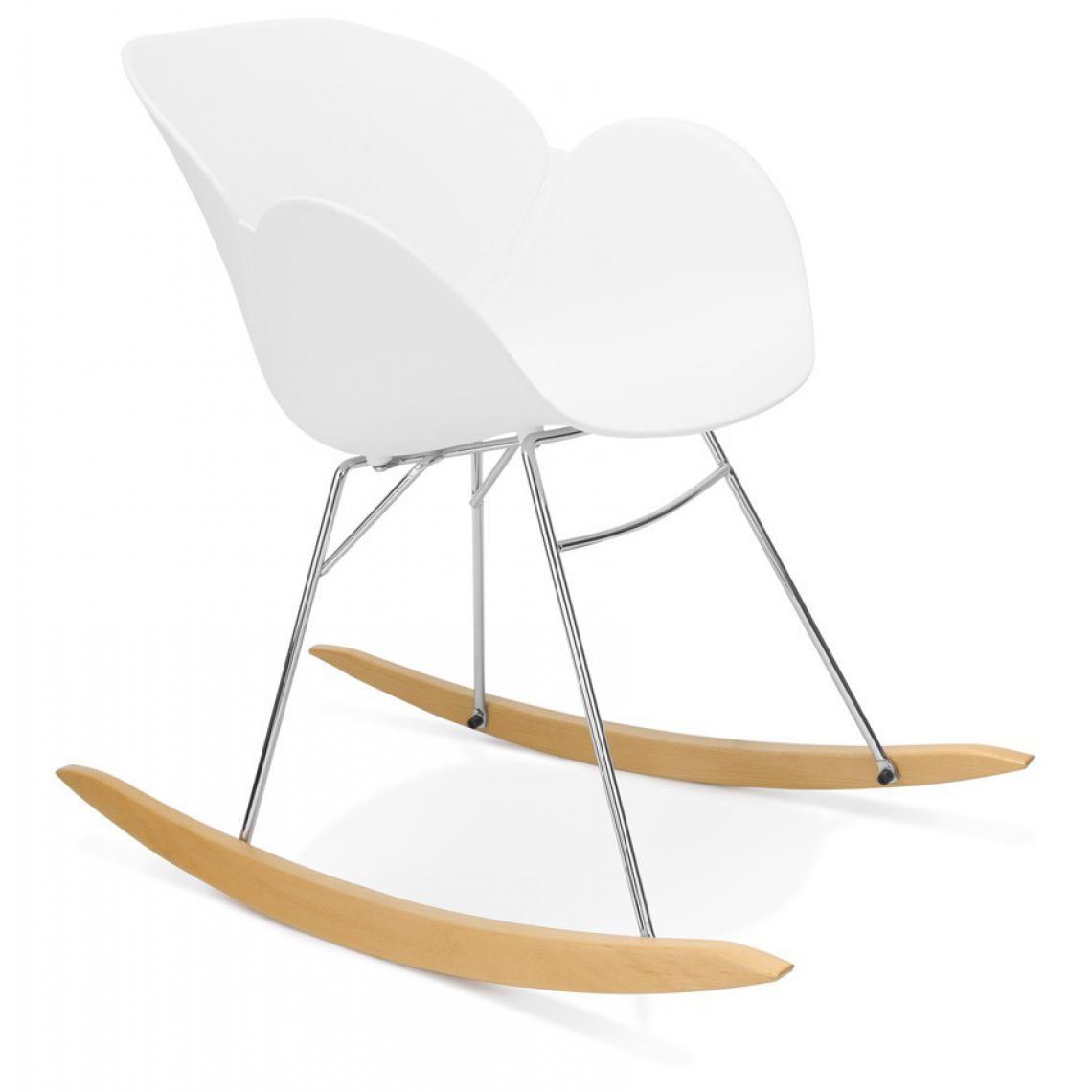 fauteuil a bascule en plastique blanc cherokee