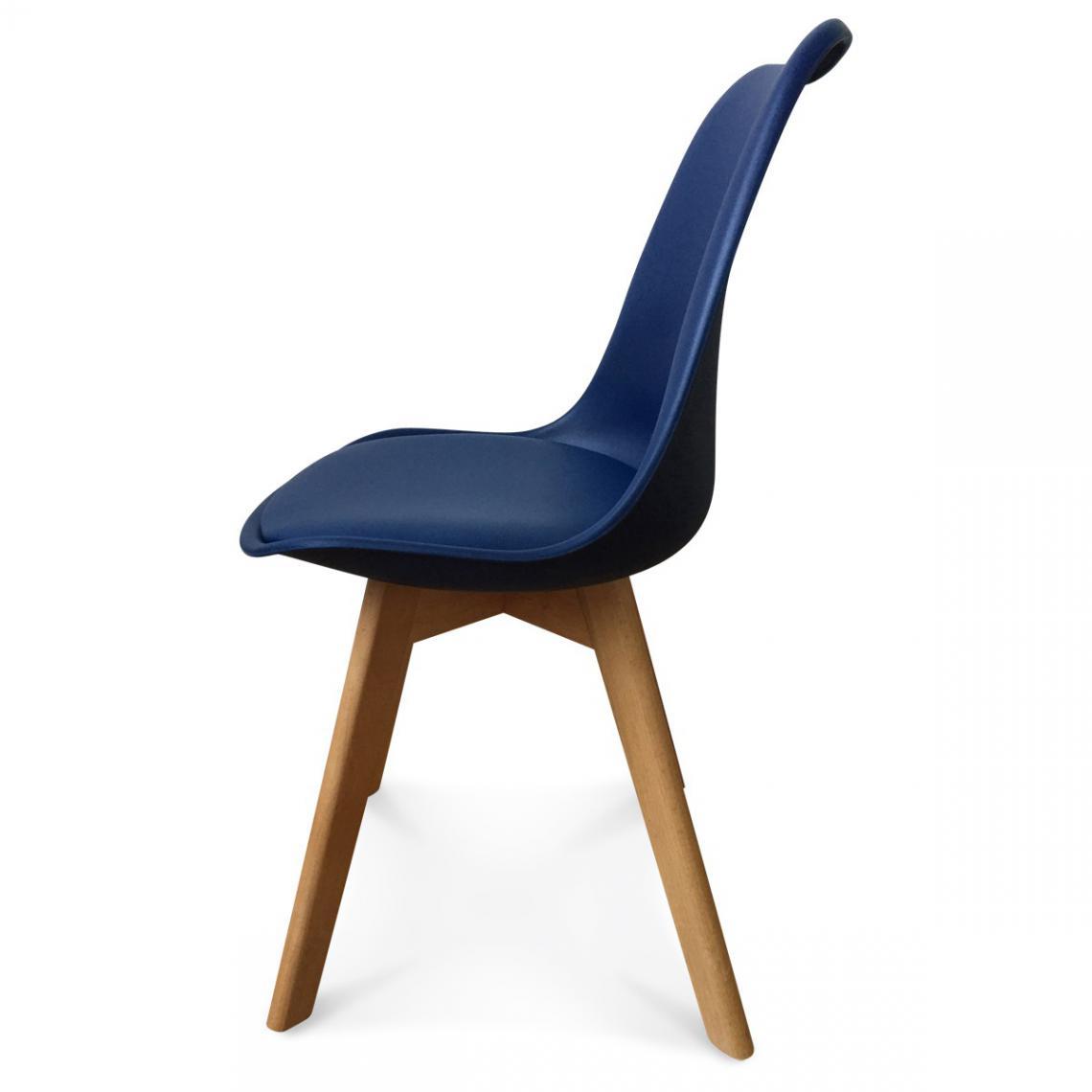 chaise design style scandinave bleu marine esben