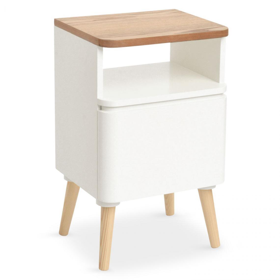 table de chevet scandinave bois blanc achumawi