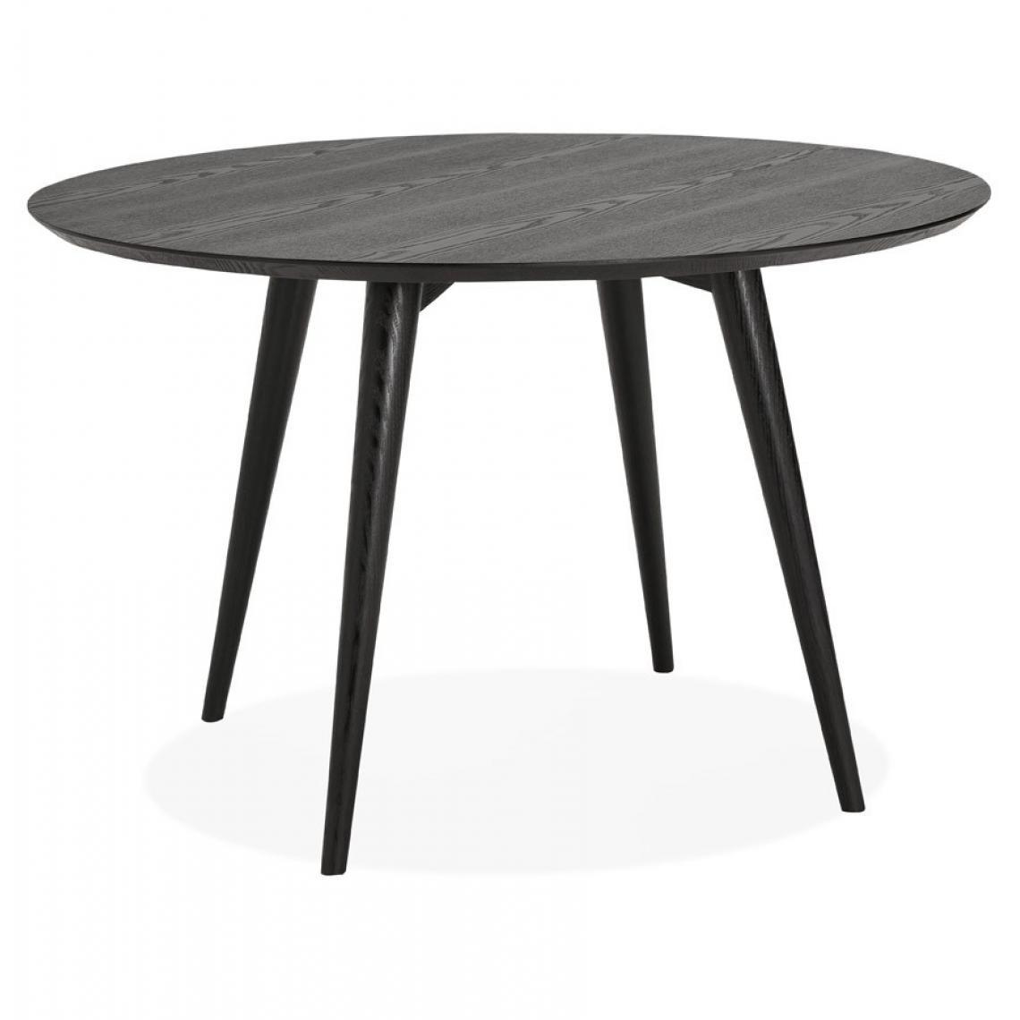 table a manger ronde bois noir navia