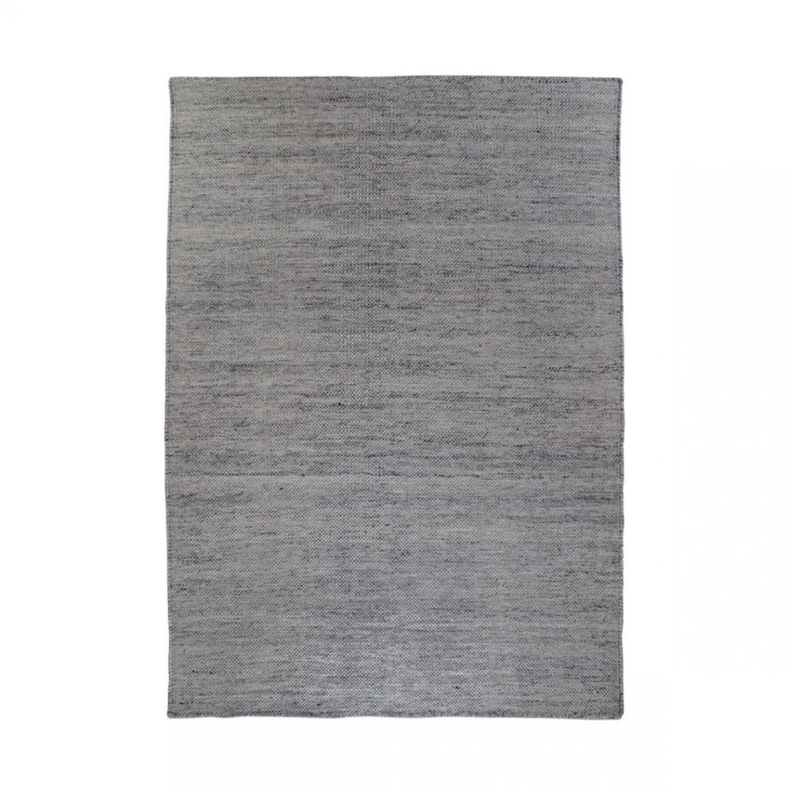 tapis tisse a la main gris graphite 160 x 230 cm utah