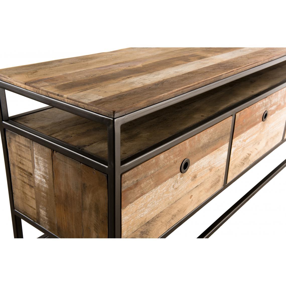 meuble tv sixtine 3 tiroirs bois teck