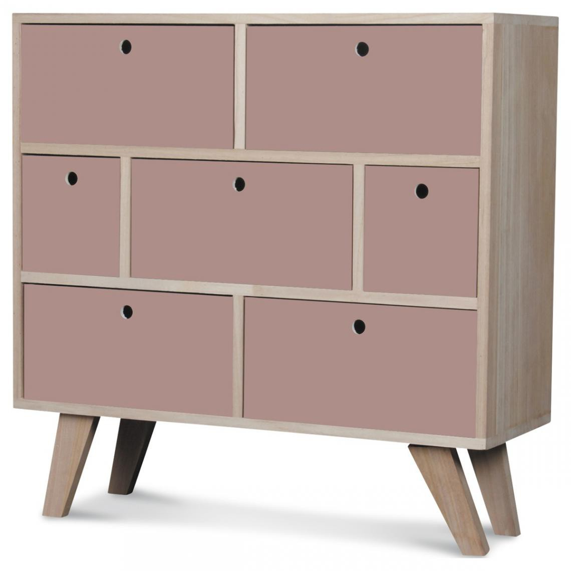 commode 7 tiroirs bois rose montreal
