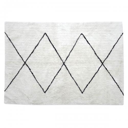 tapis berbere noir et blanc 120x170cm sfax