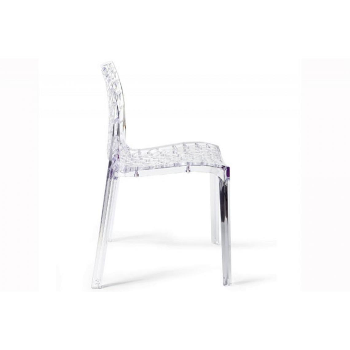 lot de 2 chaises transparentes gruyer