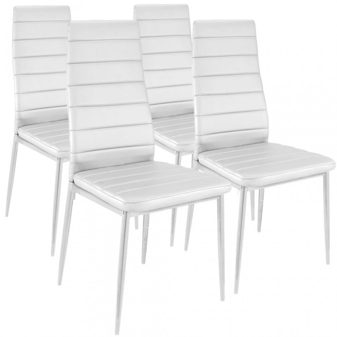 lot de 4 chaises design baroque blanc houston